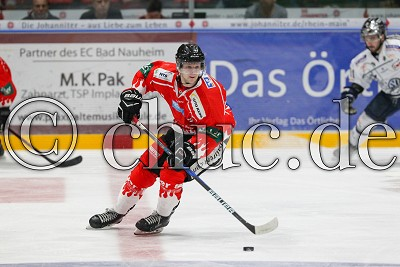 -18- Marvin Ratmann (EC Bad Nauheim), in der DEL 2 - EC Bad Nauheim gegen EC Kassel Huskies, Bad Nauheim, Colonel-Knight-Stadion, 14.09.18